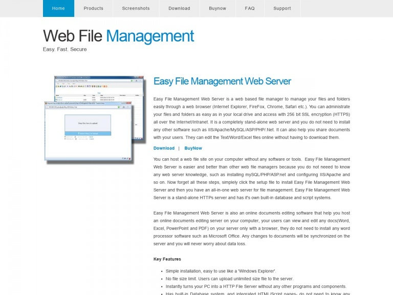 Web File Management